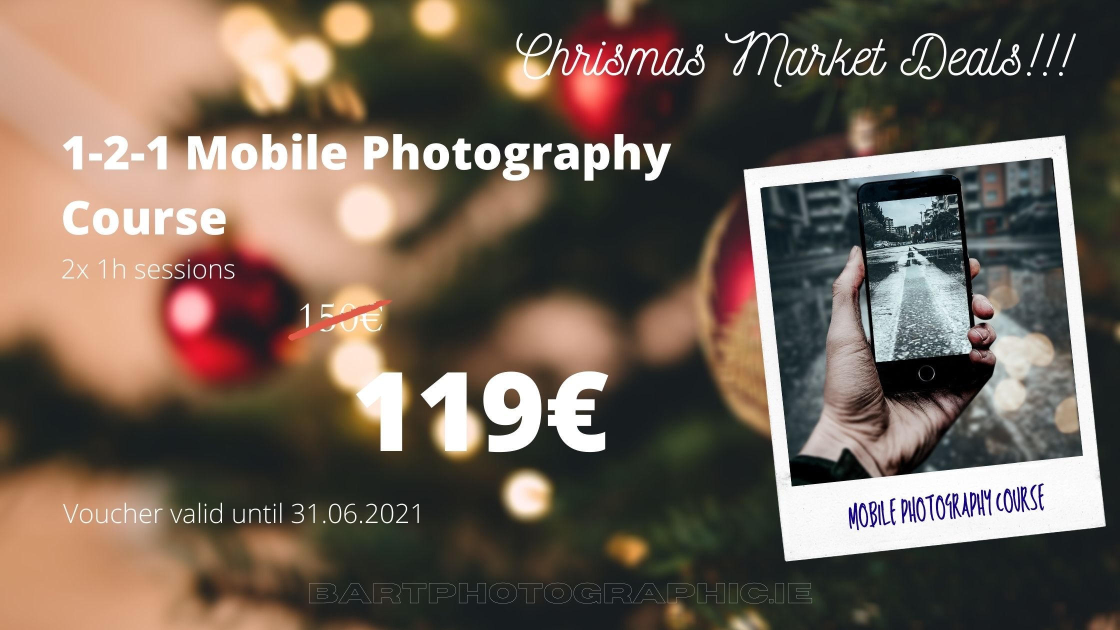 1-2-1 Mobile Photography Course 119€